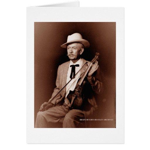 Jugador del violín tarjeta de felicitación