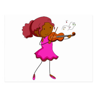 Jugador del violín postal