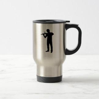 Jugador del violín taza de viaje de acero inoxidable
