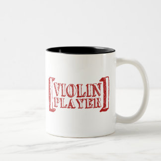 Jugador del violín taza de dos tonos