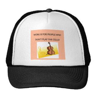 jugador del violoncelo gorras