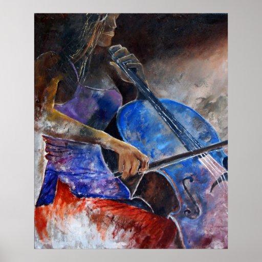 jugador del violoncelo posters