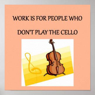 jugador del violoncelo póster