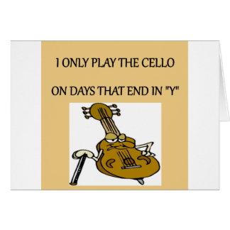 jugador del violoncelo felicitacion