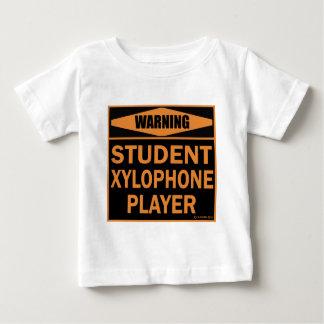 Jugador del xilófono del estudiante t shirt