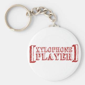 Jugador del xilófono llavero redondo tipo pin