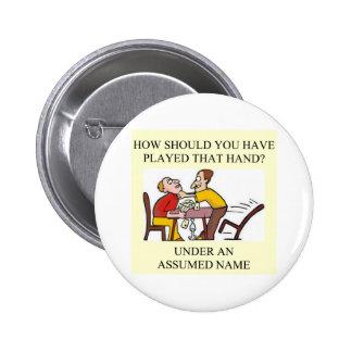 jugador duplicado del juego del puente pin redondo de 2 pulgadas