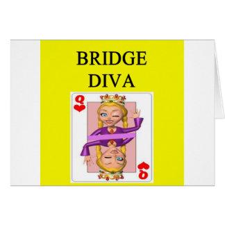 jugador duplicado del juego del puente tarjetón
