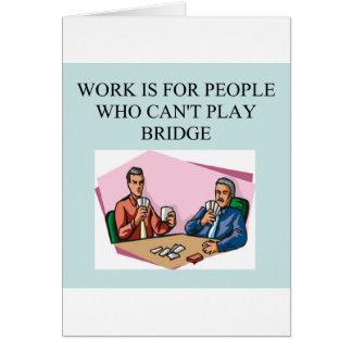 jugador duplicado del juego del puente tarjeta de felicitación