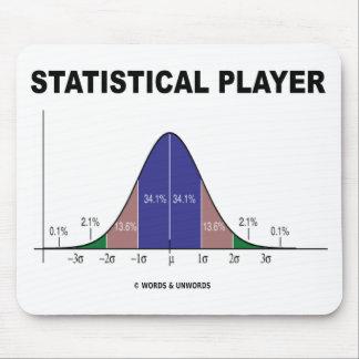 Jugador estadístico actitud de la curva de Bell Alfombrilla De Ratones