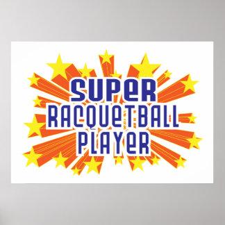 Jugador estupendo del Racquetball Impresiones