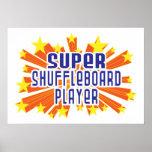 Jugador estupendo del Shuffleboard Posters