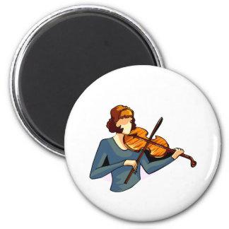 Jugador femenino abstracto del violín en imagen az iman
