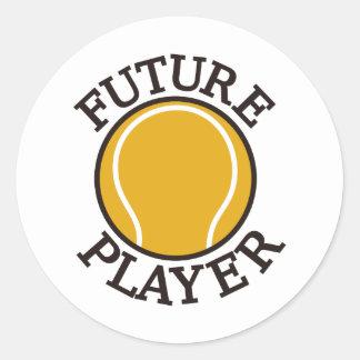 Jugador futuro pegatina redonda