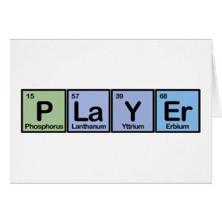 Jugador hecho de elementos felicitaciones