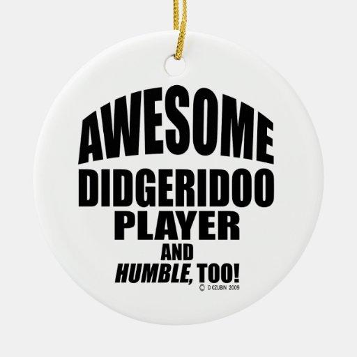Jugador impresionante de Didgeridoo Adorno