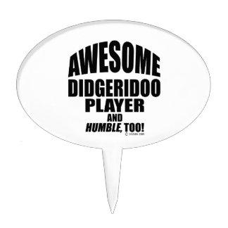 Jugador impresionante de Didgeridoo Decoración Para Tarta