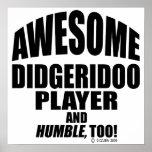 Jugador impresionante de Didgeridoo Impresiones