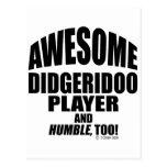 Jugador impresionante de Didgeridoo Postal