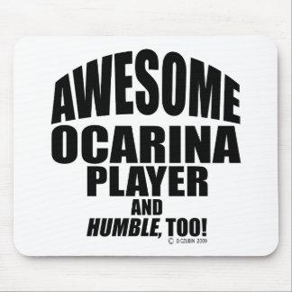 Jugador impresionante de Ocarina Mouse Pads