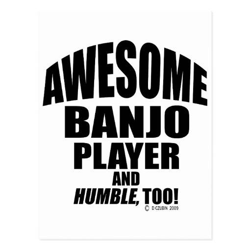 Jugador impresionante del banjo tarjetas postales