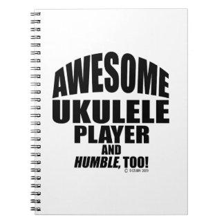 Jugador impresionante del Ukulele Spiral Notebook