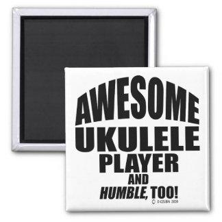 Jugador impresionante del Ukulele Imán De Frigorífico