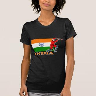 Jugador indio del grillo camisetas