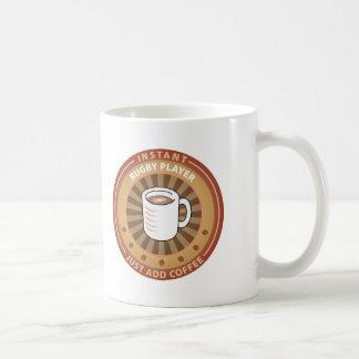 Jugador inmediato del rugbi tazas de café