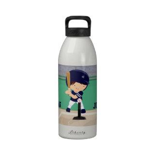 Jugador lindo personalizado del dibujo animado del botella de agua