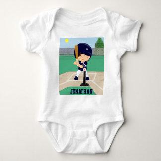 Jugador lindo personalizado del dibujo animado del t shirts