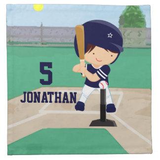 Jugador lindo personalizado del dibujo animado del servilleta imprimida