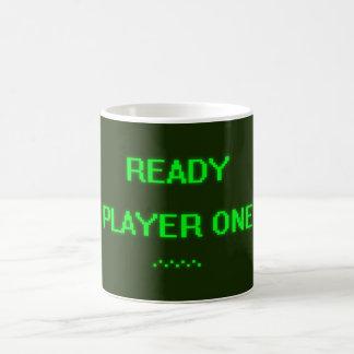 Jugador listo uno taza