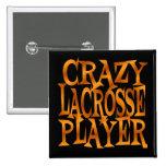 Jugador loco de LaCrosse en oro Pin