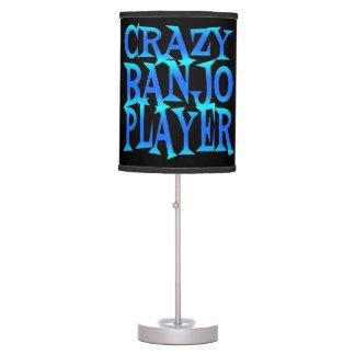 Jugador loco del banjo lámpara de mesilla de noche