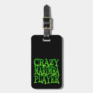 Jugador loco del Marimba en verde Etiquetas Bolsa
