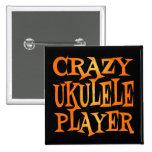 Jugador loco del Ukulele Pins