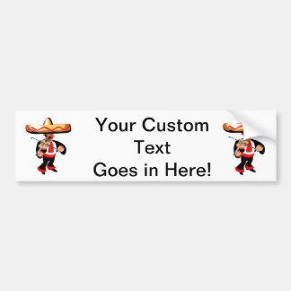 jugador mexicano del violín etiqueta de parachoque