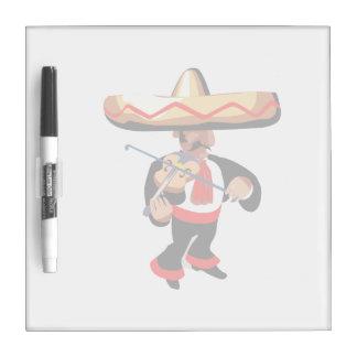 jugador mexicano del violín pizarras blancas
