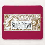 Jugador Mousepad del banjo Tapetes De Ratones