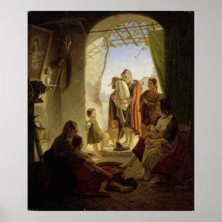 Jugador napolitano de la gaita en Roma hivernal, 1 Póster