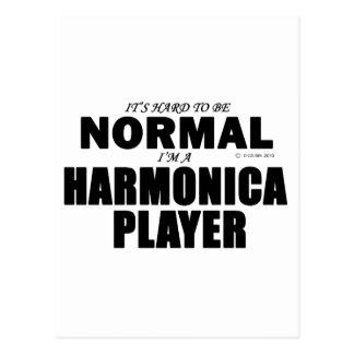 Jugador normal de la armónica postal