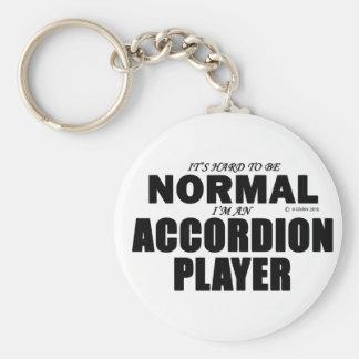 Jugador normal del acordeón llaveros