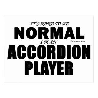 Jugador normal del acordeón postal