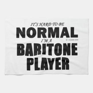 Jugador normal del barítono toalla de cocina
