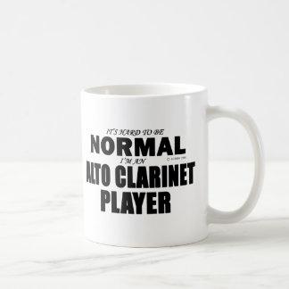 Jugador normal del Clarinet del alto Taza De Café