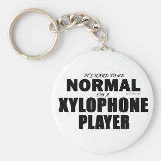 Jugador normal del xilófono llavero redondo tipo pin