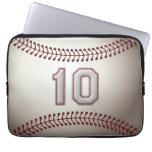 Jugador número 10 - puntadas frescas del béisbol fundas ordendadores