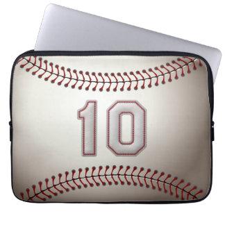 Jugador número 10 - puntadas frescas del béisbol fundas portátiles