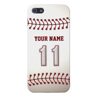 Jugador número 11 - puntadas frescas del béisbol iPhone 5 fundas
